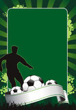 Soccer. Illustration of soccer banner with ball Royalty Free Stock Photography