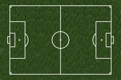 Soccer. Footballfield as a illustration / image combination Stock Photos