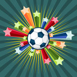 Soccer. Vector Illustration of a scoccer ball with stars Stock Images