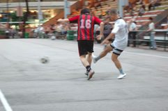 Soccer. Two men playing soccer Royalty Free Stock Image