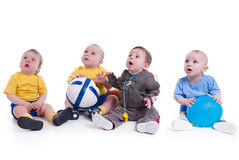 Soccer. A group of kids soccer Stock Images