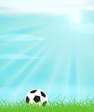 Soccer. A soccer ball in a grass field Vector Illustration