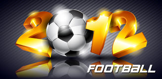 Soccer 2012. Background to the ball and figures 2012 royalty free illustration