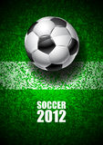 Soccer 2012. Soccer ball on the field Stock Image