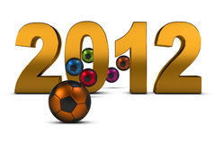 Soccer 2012. Championship of Europe on Soccer 2012 , 3D Royalty Free Stock Photos