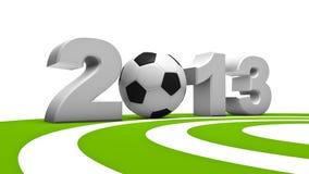 Soccer 2013. Abstract demonstration of soccer in 2013 vector illustration