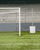 Soccer. A soccer goal on a green field Stock Photo