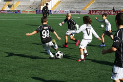 Soccer. Italians children are playing a football match.october 2011 Stock Photo