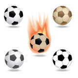 Soccer. Illustration of highly rendered soccer ball, football,  in white background Stock Images