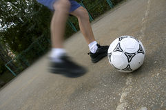 Soccer. On the street royalty free stock photo
