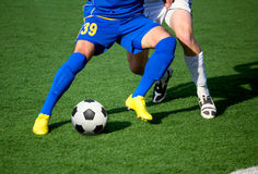 Soccer. Part of legs-soccer or football theme Royalty Free Stock Photography