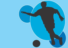 Soccer. A  illustration of a man playing soccer Stock Photos