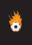 Soccer. Illustrations of a Soccer ball on fire in vector Royalty Free Stock Photo
