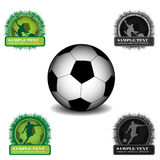 Soccer. Banners and the ball Royalty Free Stock Images