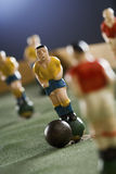 Soccer. Figurines of a miniature table game Royalty Free Stock Photo