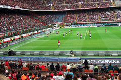 Soccer. Action inside a football stadium during a  match  - Milan and Udinese - May 2008 - Milan - Italy