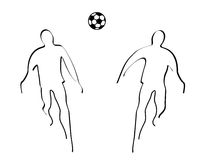 Soccer. Illustration of soccer Royalty Free Stock Photography
