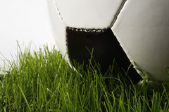 Soccer. Ball and grass Royalty Free Stock Photography