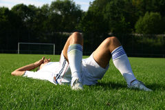 Soccer #8. A soccer player, foul play Stock Photo
