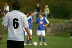Soccer #9. The Soccer game at start Royalty Free Stock Image