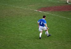 Soccer. Player on  field Stock Photo