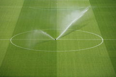 Soccer. A empty soccerfield in a stadion Royalty Free Stock Photos