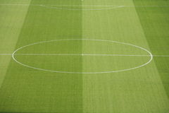 Soccer. A empty soccerfield in a stadion Stock Photography