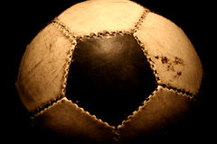 Soccer. A football in contrast light Royalty Free Stock Photos