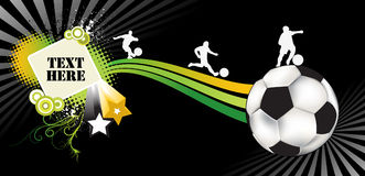 Soccer abstract. An illustration of a soccer abstract brochure Royalty Free Stock Photo