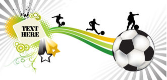 Soccer abstract. An illustration of a soccer abstract brochure Stock Images