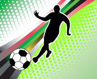Soccer abstract background Stock Photo