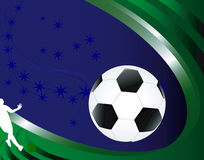 Soccer abstract background. Stock Photos