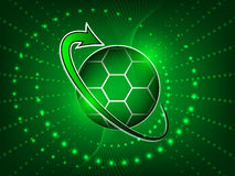 Soccer abstract  background with ball Royalty Free Stock Images