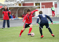 Soccer Action. PLACE:ZRENJANIN, SERBIA Stock Photos