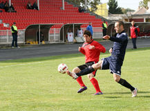 Soccer Action. PLACE:ZRENJANIN, SERBIA Royalty Free Stock Images