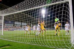 Free Soccer Action In For Of Goal Stock Images - 10400664