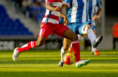 Soccer action. Soccer player legs in action Stock Photos
