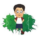 Soccer africa cartoon Royalty Free Stock Image