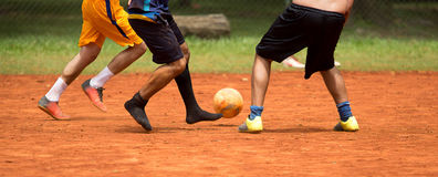 Soccer Amateur-Brazil. Ian people playing soccer in a park royalty free stock photo