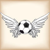 Soccer angel Royalty Free Stock Image