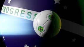 Soccer animation intro - Brazil 2014 stock video footage