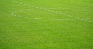 Soccer arena. Detail of a soccer field arena with artificial turf Stock Image