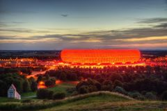 Soccer Arena Munich stock photos