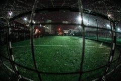 Soccer  arena in night illuminated bright spotlights Stock Photography