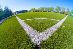 Soccer arena. In sunlight day Stock Photo