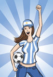 Soccer Argentina Fan Girl Royalty Free Stock Images