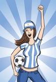 Soccer Argentina Fan Girl. Vector illustration of Soccer Argentina Fan Girl Royalty Free Stock Images