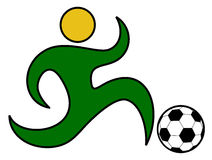 Soccer art Royalty Free Stock Images