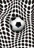 Soccer art. Drawing freehand made to the computer Royalty Free Illustration