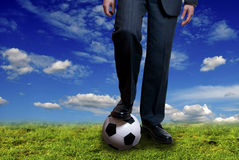 Soccer as business Royalty Free Stock Photo